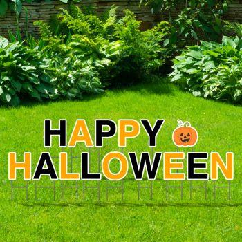 Pre-Packaged Happy Halloween Yard Letters