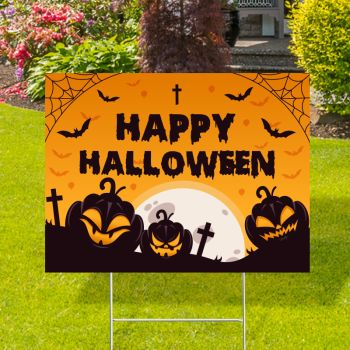 Happy Halloween Yard Signs