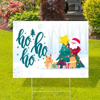 Ho Ho Ho Christmas Yard Signs