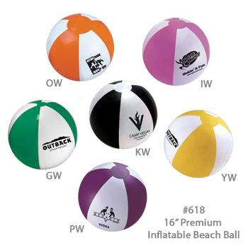 Inflatable Beach Ball 618 - 16""