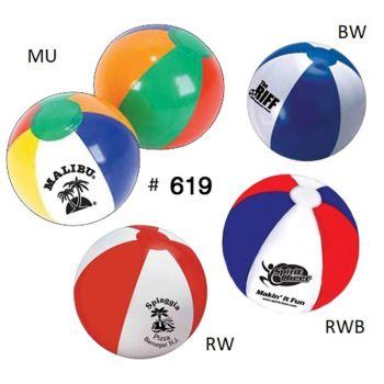 "Inflatable Beach Ball 619 - 16"""