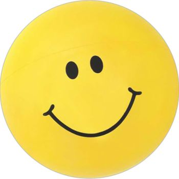 Inflatable Smiley Face Beach Ball - 16""