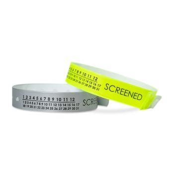 Medical Screened Calendar Vinyl Wristbands