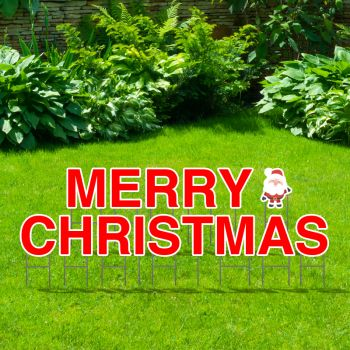 Pre-Packaged Merry Christmas Yard Letters