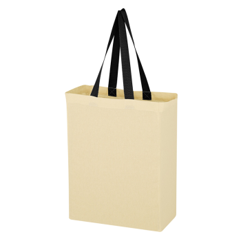 Natural Cotton Canvas Grocery Tote Bag