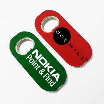 Oval shape magnetic bottle opener