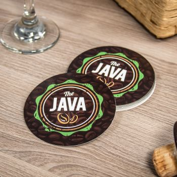 "Paper Coasters - 3.5"" Round"