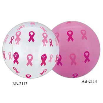 Pink ribbon Beach Ball