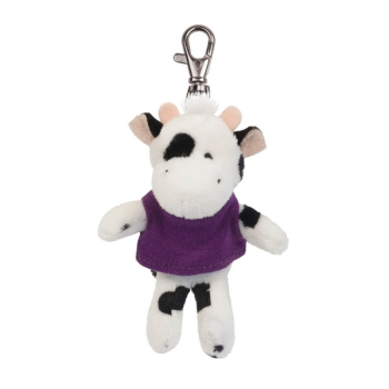 Plush Wild Bunch Key Tags- Black/White Cow