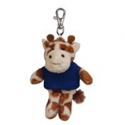 Custom Plush Wild Bunch Key Tags-giraffe