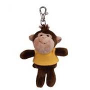 Custom Plush Wild Bunch Key Tags-monkey