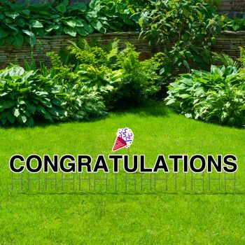Pre-Packaged Congratulations Yard Letters