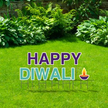 Pre-Packaged Happy Diwali Yard Letters