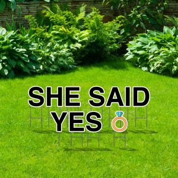 Pre-Packaged She Said Yes Yard Letters