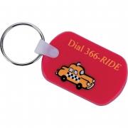 Custom Rectangular Soft Key Tag