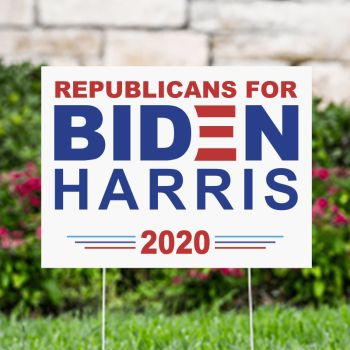 Republican For Biden Harris 2020 Political Yard Signs