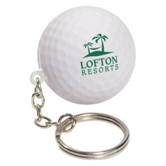 Custom Golf Ball Key Chain Stress Reliever