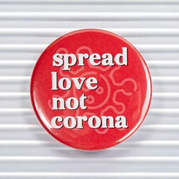 Spread Love Social Distancing Pin Buttons