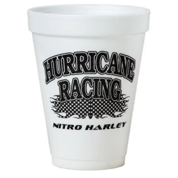 Tall White Styrofoam Coffee Cup - 12 oz