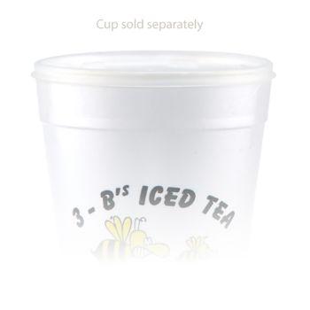 Tall White Styrofoam Coffee Cup - 32 Oz Lid