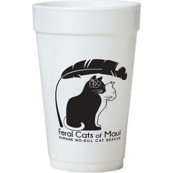 Tall White Styrofoam Coffee Cup - 32 oz
