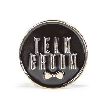 Team Groom Stock Lapel Pins