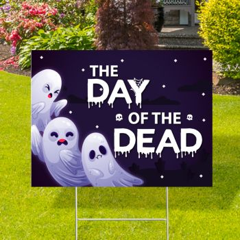 The Day Of The Dead Yard Signs