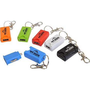 USB Car Charger Keychains