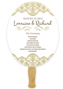 Custom Wedding Hand Fans