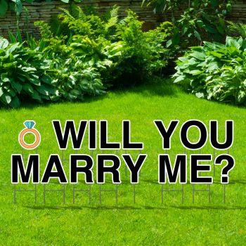 Pre-Packaged Will You Marry Me Yard Letters
