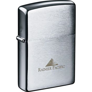 Zippo® Windproof Lighter Brush Chrome