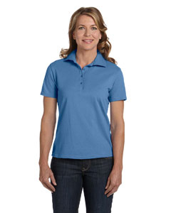 Custom Hanes Ladies 7 Oz. Comfortsoft® Cotton Pique Polo