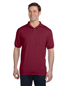 Custom Hanes 5.2 Oz., 50/50 Ecosmart® Jersey Pocket Polo