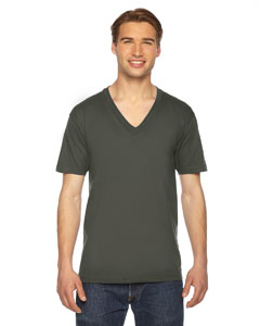Custom American Apparel Unisex Fine Jersey Short-sleeve V-neck