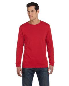 Custom Bella Mens Jersey Long-sleeve T-shirt