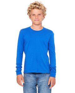 Custom Bella Youth Jersey Long-sleeve T-shirt