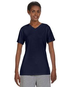 Custom Hanes Ladies 4 Oz. Cool Dri® V-neck T-shirt