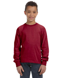 Custom Fruit Of The Loom Youth 5 Oz., 100% Heavy Cotton Hd® Long-sl