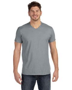 Custom Hanes 4.5 Oz., 100% Ringspun Cotton Nano-t® V-neck T-shirt