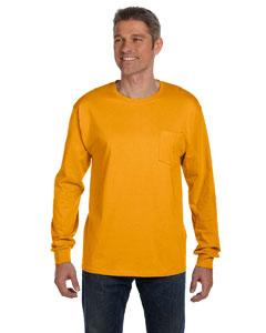 Custom Hanes 6.1 Oz. Tagless® Comfortsoft® Long-sleeve Pocket T