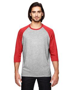 Custom Anvil Triblend 3/4-sleeve Raglan T-shirt