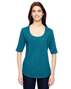 Custom Anvil Ladies Triblend Deep Scoop Half-sleeve T-shirt