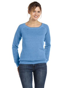 Custom Bella Ladies Sponge Fleece Wide Neck Sweatshirt