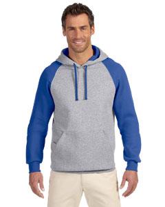 Custom Jerzees 8 Oz., 50/50 Nublend® Colorblock Raglan Pullover Hoo
