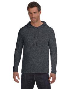 Custom Anvil Lightweight Long-sleeve Hooded T-shirt