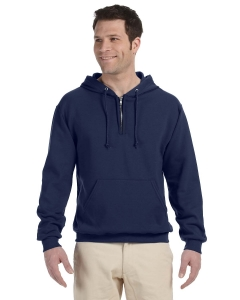 Custom Jerzees 8 Oz., 50/50 Nublend® Fleece Quarter-zip Pullover Ho