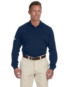 Custom Adidas Golf Mens Climalite® Tour Pique Long-sleeve Polo