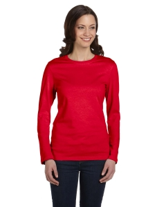 Custom Bella Ladies Jersey Long-sleeve T-shirt