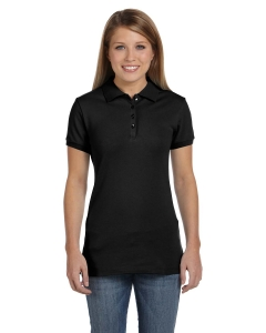 Custom Bella Ladies Cotton Spandex Mini Pique Short-sleeve Polo