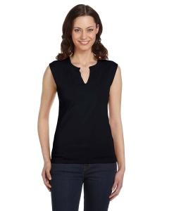 Custom Bella Ladies Cotton/spandex Slit-v Raglan T-shirt